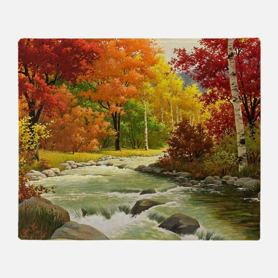 Autumn Landscape Throw Blanket