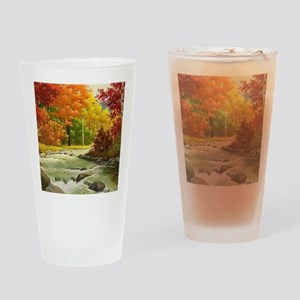 Autumn Landscape Drinking Glass
