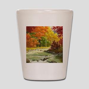 Autumn Landscape Shot Glass