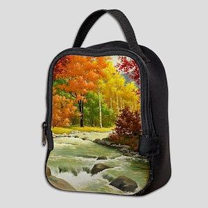 Autumn Landscape Neoprene Lunch Bag