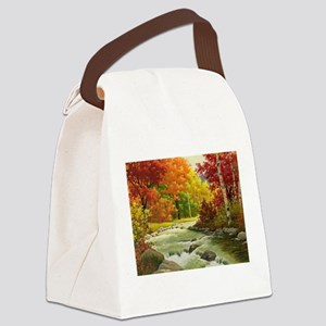 Autumn Landscape Canvas Lunch Bag
