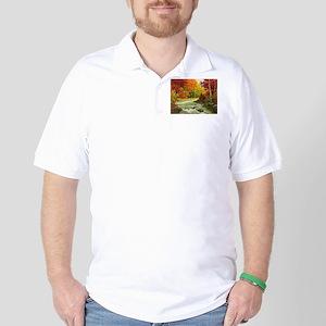 Autumn Landscape Golf Shirt