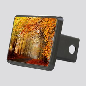 Road At Autumn Rectangular Hitch Cover