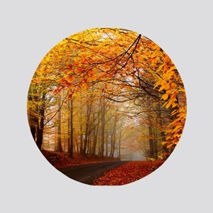 Road At Autumn Button
