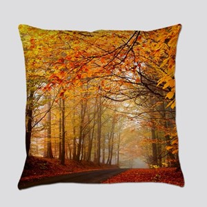 Road At Autumn Everyday Pillow