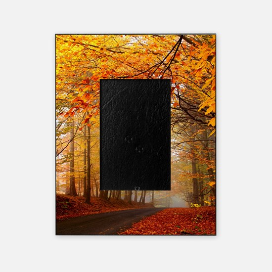Road At Autumn Picture Frame