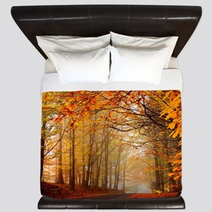 Road At Autumn King Duvet
