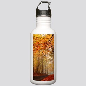 Road At Autumn Sports Water Bottle