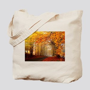 Road At Autumn Tote Bag