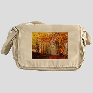 Road At Autumn Messenger Bag