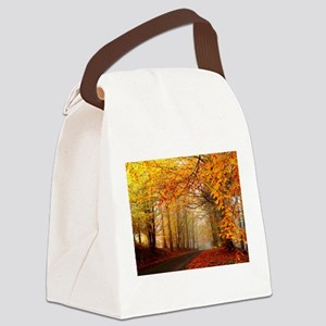 Road At Autumn Canvas Lunch Bag