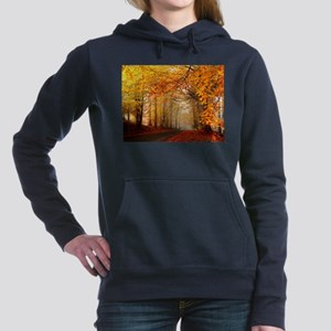 Road At Autumn Women's Hooded Sweatshirt