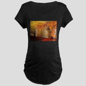 Road At Autumn Maternity T-Shirt