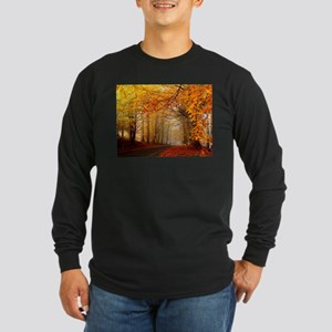 Road At Autumn Long Sleeve T-Shirt