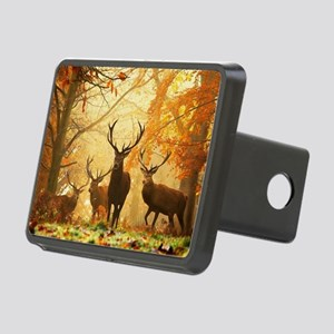 Deer In Autumn Forest Rectangular Hitch Cover