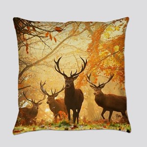 Deer In Autumn Forest Everyday Pillow