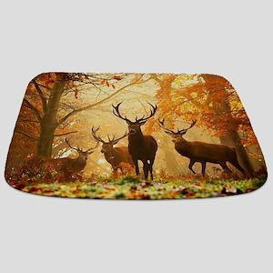 Deer In Autumn Forest Bathmat
