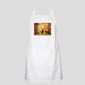 Deer In Autumn Forest Apron