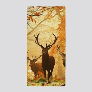Deer In Autumn Forest Beach Towel