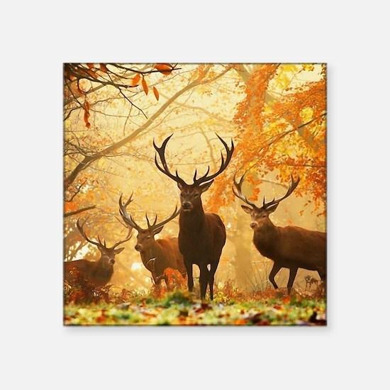 Deer In Autumn Forest Sticker