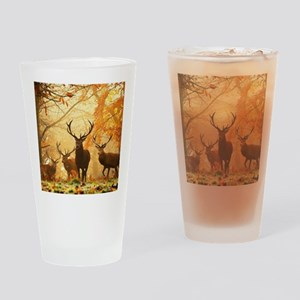 Deer In Autumn Forest Drinking Glass