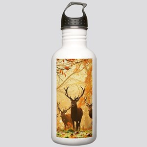 Deer In Autumn Forest Sports Water Bottle
