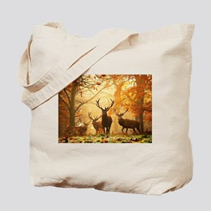 Deer In Autumn Forest Tote Bag