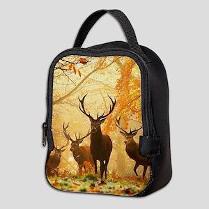 Deer In Autumn Forest Neoprene Lunch Bag
