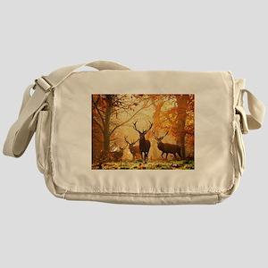 Deer In Autumn Forest Messenger Bag