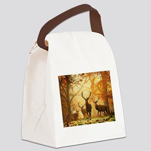 Deer In Autumn Forest Canvas Lunch Bag