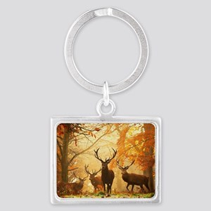 Deer In Autumn Forest Keychains