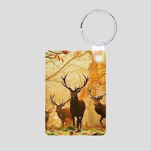 Deer In Autumn Forest Keychains