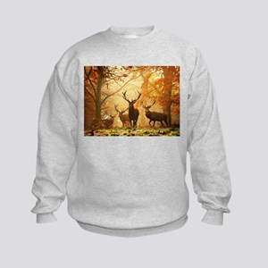 Deer In Autumn Forest Sweatshirt