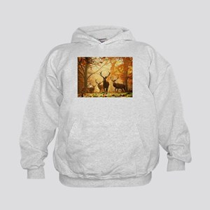 Deer In Autumn Forest Hoody