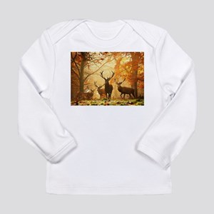 Deer In Autumn Forest Long Sleeve T-Shirt