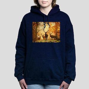 Deer In Autumn Forest Women's Hooded Sweatshirt