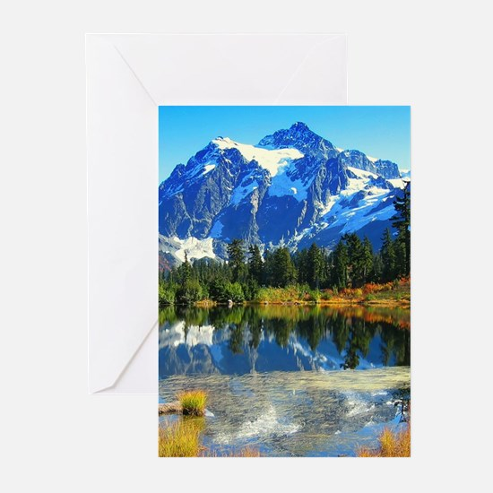Mountain At Autumn Greeting Cards