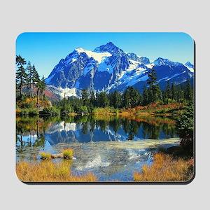 Mountain At Autumn Mousepad