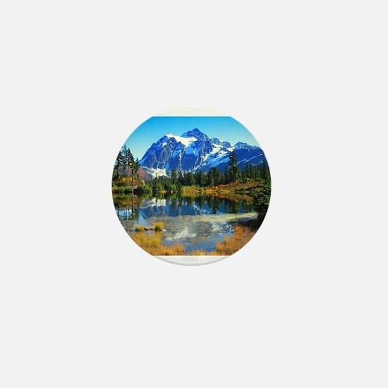 Mountain At Autumn Mini Button