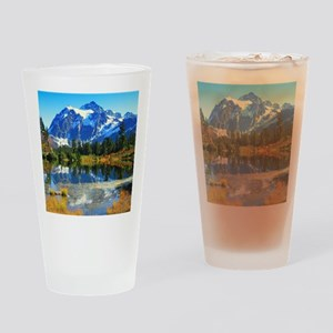 Mountain At Autumn Drinking Glass