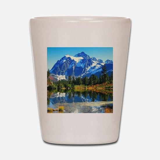 Mountain At Autumn Shot Glass
