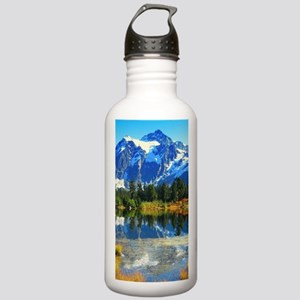 Mountain At Autumn Sports Water Bottle