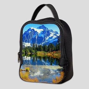 Mountain At Autumn Neoprene Lunch Bag