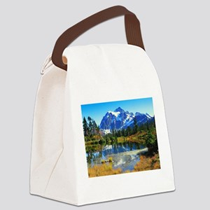 Mountain At Autumn Canvas Lunch Bag