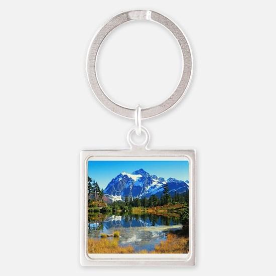 Mountain At Autumn Keychains