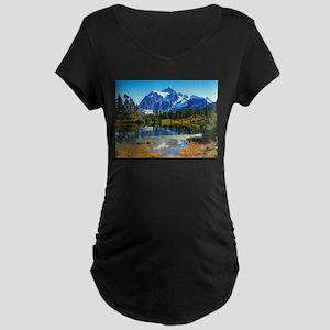 Mountain At Autumn Maternity T-Shirt