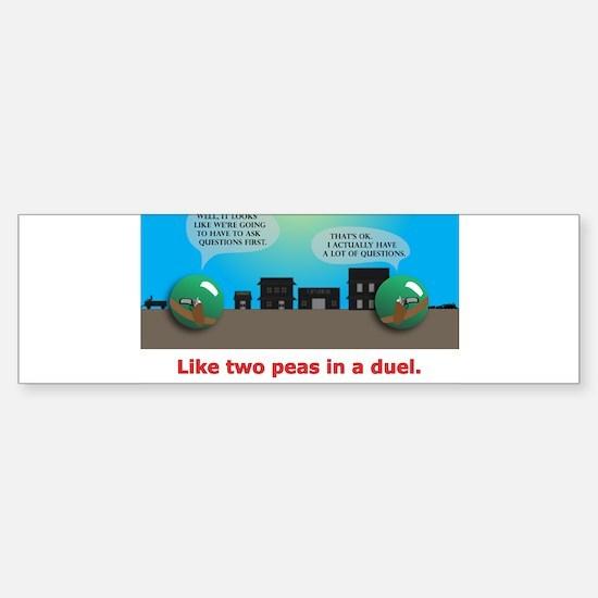 in a duel Sticker (Bumper)