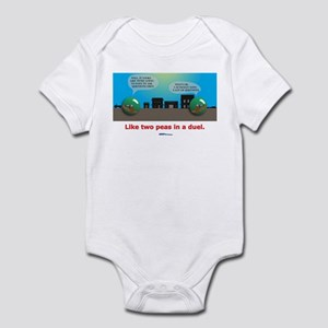 in a duel Infant Bodysuit