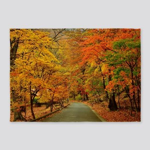 Park At Autumn 5'x7'Area Rug