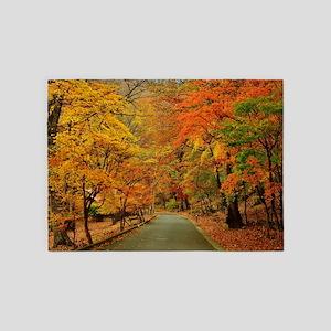 Park At Autumn 5'x7'Area Rug